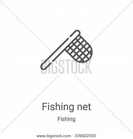 fishing net icon isolated on white background from fishing collection. fishing net icon trendy and m