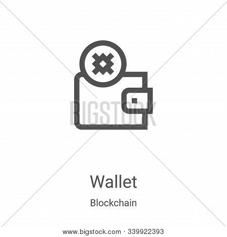 wallet icon isolated on white background from blockchain collection. wallet icon trendy and modern w