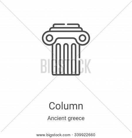 column icon isolated on white background from ancient greece collection. column icon trendy and mode