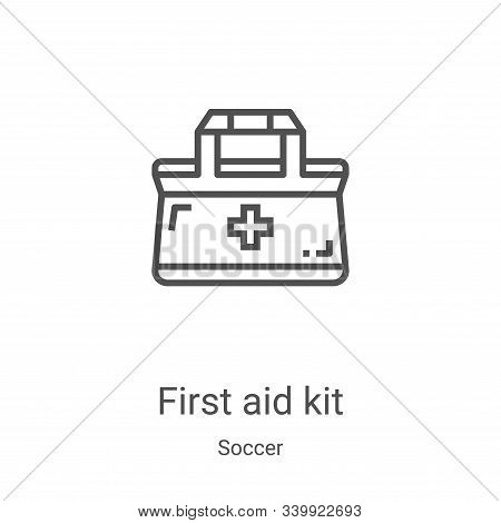 first aid kit icon isolated on white background from soccer collection. first aid kit icon trendy an