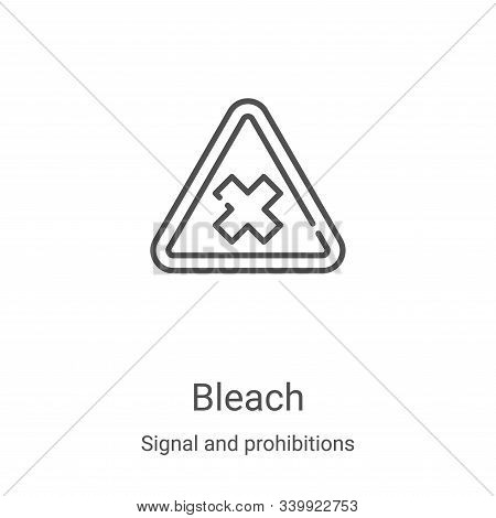 bleach icon isolated on white background from signal and prohibitions collection. bleach icon trendy