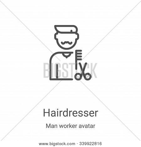 hairdresser icon isolated on white background from man worker avatar collection. hairdresser icon tr