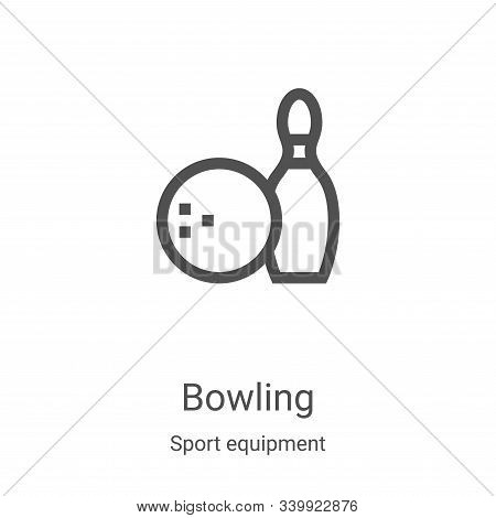 bowling icon isolated on white background from sport equipment collection. bowling icon trendy and m