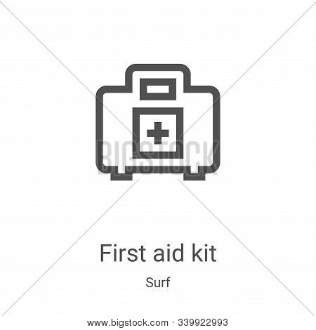 first aid kit icon isolated on white background from surf collection. first aid kit icon trendy and