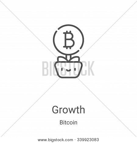 growth icon isolated on white background from bitcoin collection. growth icon trendy and modern grow
