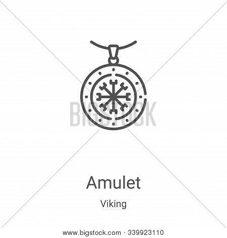 amulet icon isolated on white background from viking collection. amulet icon trendy and modern amule