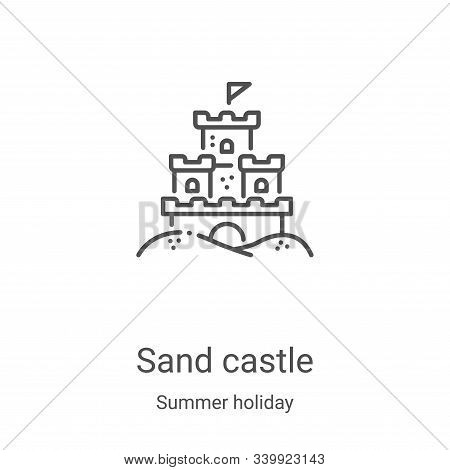 sand castle icon isolated on white background from summer holiday collection. sand castle icon trend
