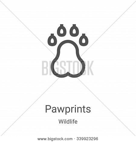 pawprints icon isolated on white background from wildlife collection. pawprints icon trendy and mode