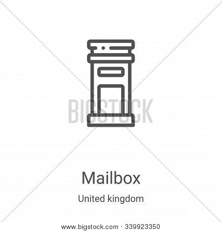 mailbox icon isolated on white background from united kingdom collection. mailbox icon trendy and mo