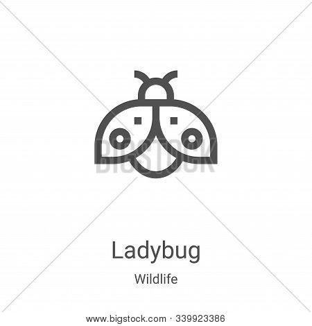 ladybug icon isolated on white background from wildlife collection. ladybug icon trendy and modern l