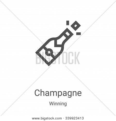 champagne icon isolated on white background from winning collection. champagne icon trendy and moder
