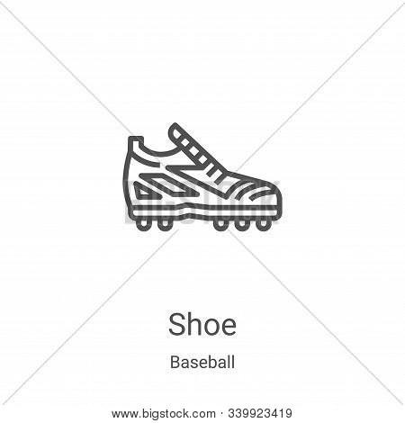 shoe icon isolated on white background from baseball collection. shoe icon trendy and modern shoe sy