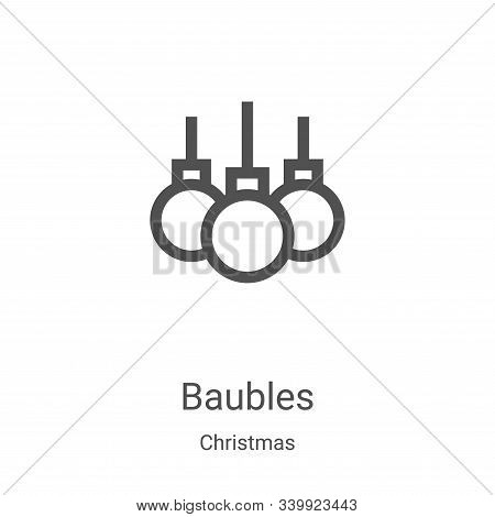 baubles icon isolated on white background from christmas collection. baubles icon trendy and modern