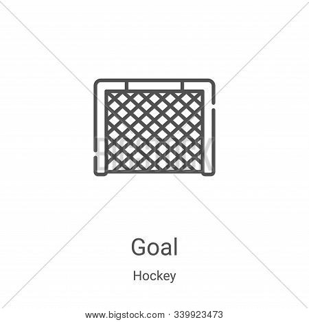goal icon isolated on white background from hockey collection. goal icon trendy and modern goal symb