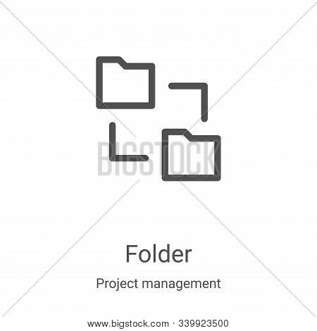folder icon isolated on white background from project management collection. folder icon trendy and