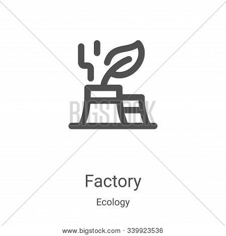 green factory icon isolated on white background from ecology collection. green factory icon trendy a