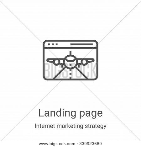 landing page icon isolated on white background from internet marketing strategy collection. landing