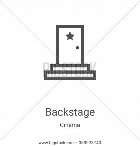 backstage icon isolated on white background from cinema collection. backstage icon trendy and modern
