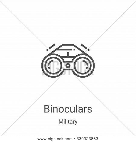 binoculars icon isolated on white background from military collection. binoculars icon trendy and mo