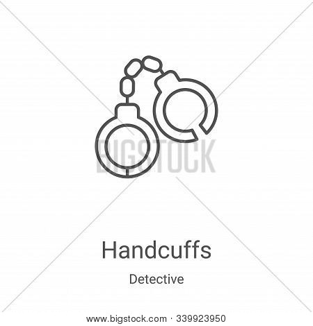 handcuffs icon isolated on white background from detective collection. handcuffs icon trendy and mod