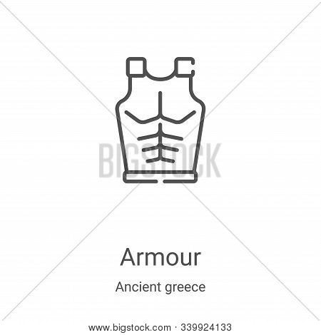 armour icon isolated on white background from ancient greece collection. armour icon trendy and mode