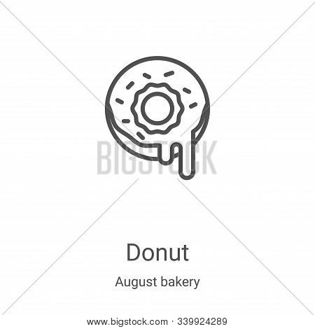 donut icon isolated on white background from august bakery collection. donut icon trendy and modern