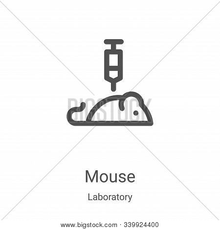 mouse icon isolated on white background from laboratory collection. mouse icon trendy and modern mou