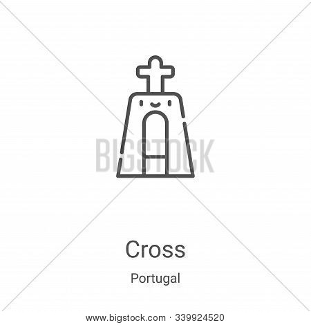 cross icon isolated on white background from portugal collection. cross icon trendy and modern cross