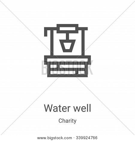 water well icon isolated on white background from charity collection. water well icon trendy and mod