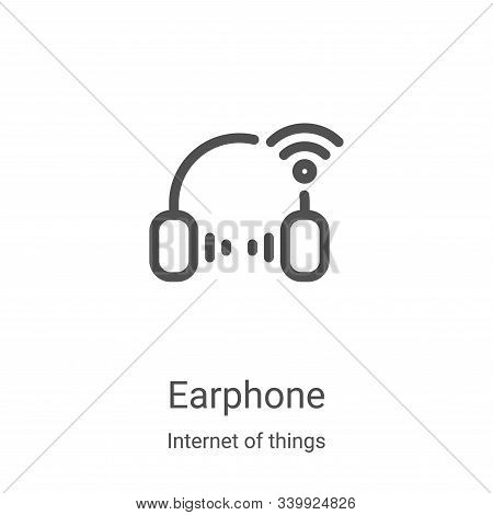 earphone icon isolated on white background from internet of things collection. earphone icon trendy