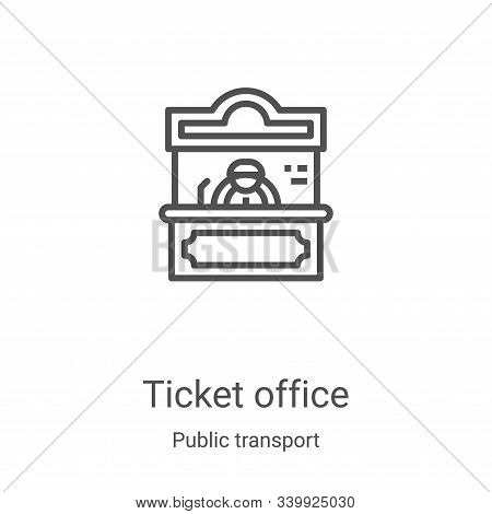 ticket office icon isolated on white background from public transport collection. ticket office icon