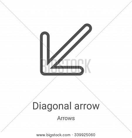 diagonal arrow icon isolated on white background from arrows collection. diagonal arrow icon trendy