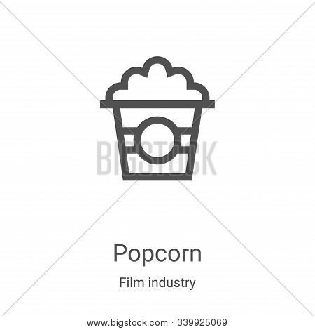 popcorn icon isolated on white background from film industry collection. popcorn icon trendy and mod