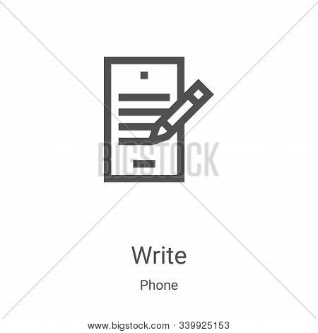 write icon isolated on white background from phone collection. write icon trendy and modern write sy