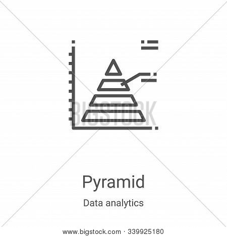 pyramid icon isolated on white background from data analytics collection. pyramid icon trendy and mo