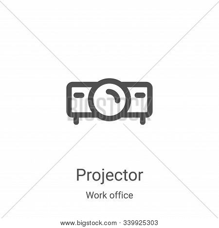 projector icon isolated on white background from work office collection. projector icon trendy and m