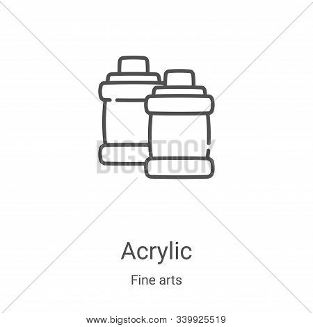 Acrylic icon isolated on white background from fine arts collection. Acrylic icon trendy and modern