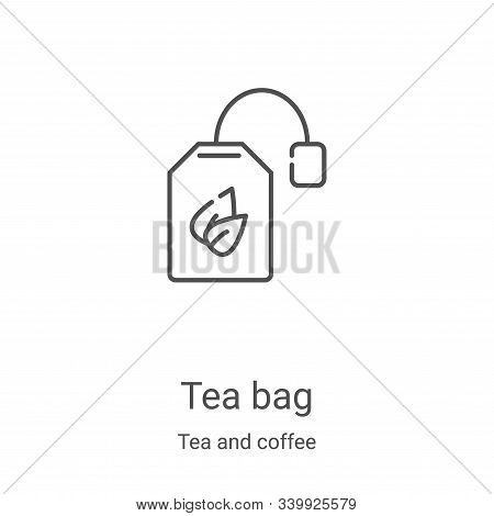 tea bag icon isolated on white background from tea and coffee collection. tea bag icon trendy and mo