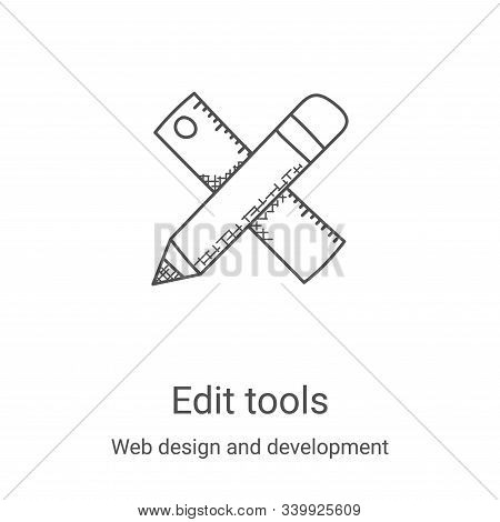edit tools icon isolated on white background from web design and development collection. edit tools