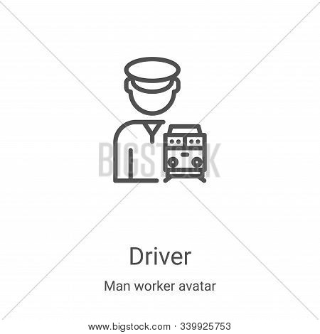 driver icon isolated on white background from man worker avatar collection. driver icon trendy and m