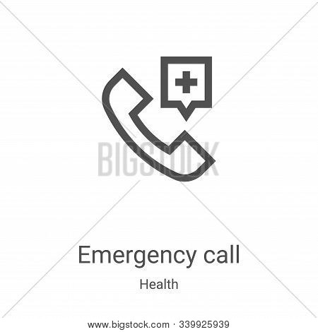 emergency call icon isolated on white background from health collection. emergency call icon trendy