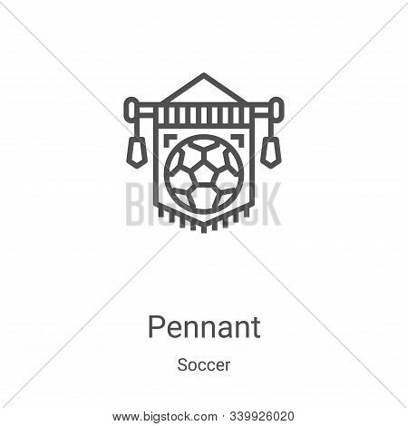 pennant icon isolated on white background from soccer collection. pennant icon trendy and modern pen