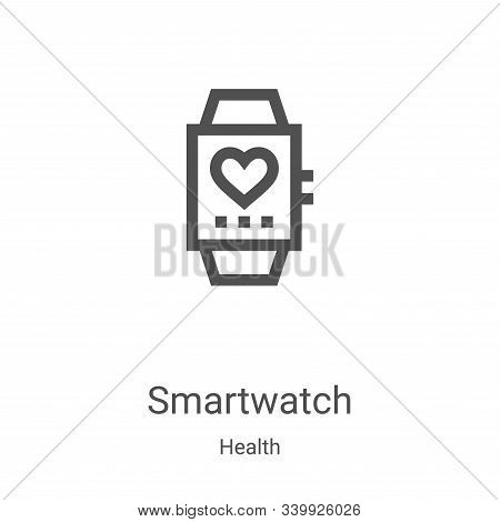smartwatch icon isolated on white background from health collection. smartwatch icon trendy and mode