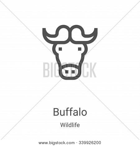buffalo icon isolated on white background from wildlife collection. buffalo icon trendy and modern b