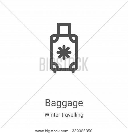 baggage icon isolated on white background from winter travelling collection. baggage icon trendy and