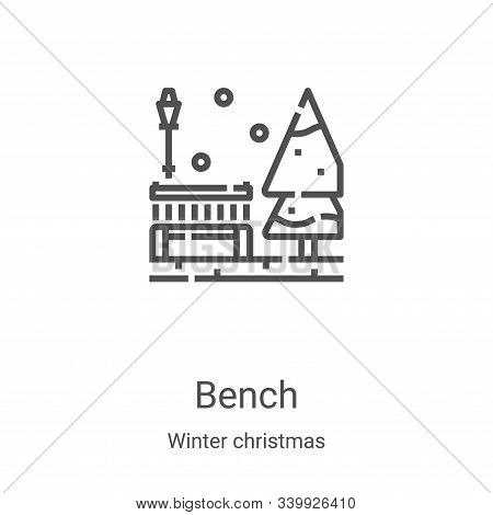 bench icon isolated on white background from winter christmas collection. bench icon trendy and mode