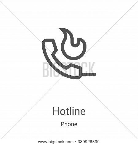 hotline icon isolated on white background from phone collection. hotline icon trendy and modern hotl