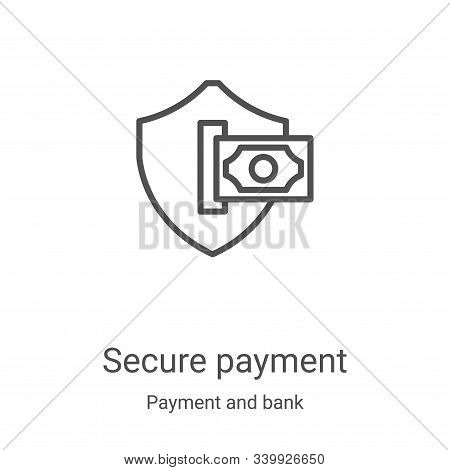 secure payment icon isolated on white background from payment and bank collection. secure payment ic