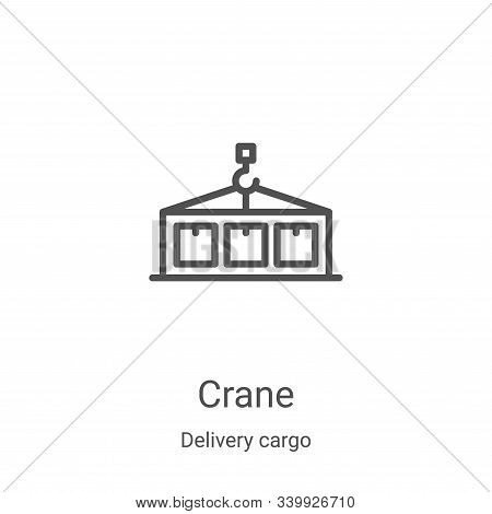 crane icon isolated on white background from delivery cargo collection. crane icon trendy and modern
