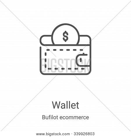 wallet icon isolated on white background from bufilot ecommerce collection. wallet icon trendy and m